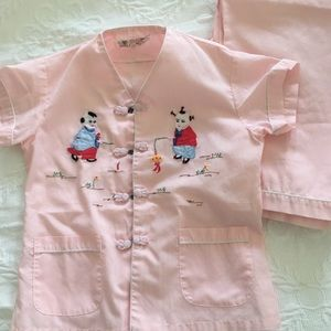 Vintage hand embroidered pajamas